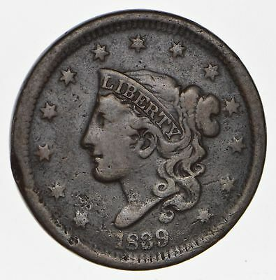1839 - US Type Coin Young Head Large Cent *761