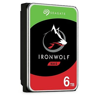 "Seagate 6TB IronWolf SATA 3.5"" Internal NAS HDD Hard Drive 7200RPM 256MB Cache"
