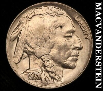 1938-D Buffalo Nickel - Choice Gem  Brilliant Uncirculated!!  #a2583