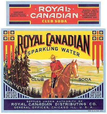 Royal Canadian Club Soda Bottle Label and Neck Label Chicago, Illinois