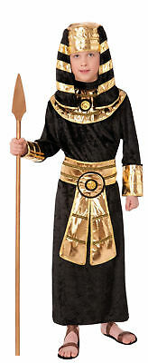 Ancient Egyptian Pharaoh Child Costume King Tut Black Gold Tunic small-md-large