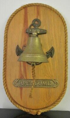 Nautical Marine Shiny Brass Ship Bell~Wall Hanging Door Bell Home Decor