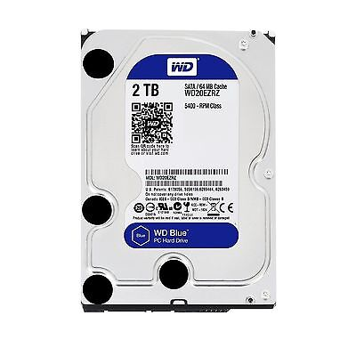 "Western Digital WD Blue 2TB 3.5"" SATA Internal Desktop Hard Drive HDD 5400RPM"