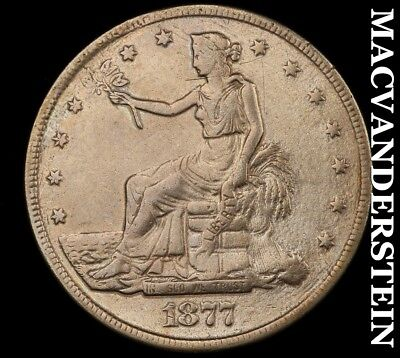1877-S U.s. Trade Dollar - Semi-Key!!  Better Date!!  #h5515