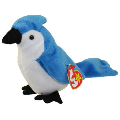 TY Beanie Baby - ROCKET the BlueJay Bird (5.5 inch) - MWMTs Stuffed Animal Toy