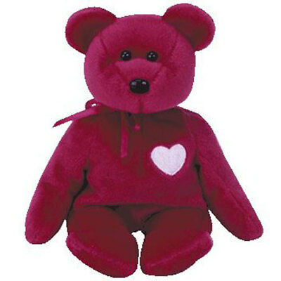TY Beanie Baby - VALENTINA the Red Bear (8.5 inch) - MWMT's Stuffed Animal Toy