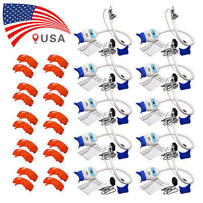 10X Dental Teeth Whitening LED Light Lamp Bleaching Accelerator& 20X Glasses RD