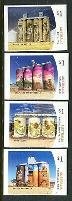 2018 Silo Art - MUH Set of 4 Booklet Stamps