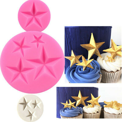 Fondant Cake Decorating Tools Candy Chocolate Gumpaste Moulds DIY Cupcake Molds