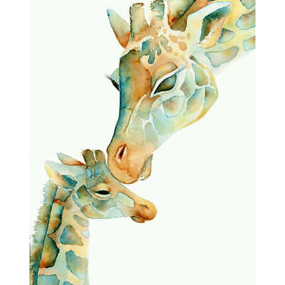 "Diamond Painting - Diamant Malerei - Stickerei - ""Giraffen"" (338)"