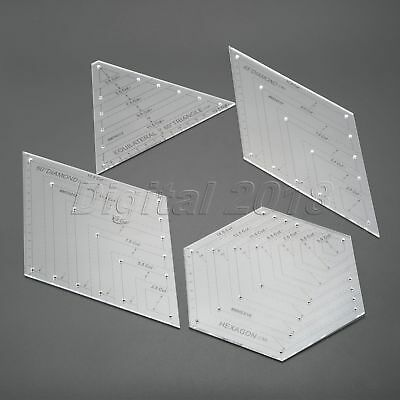 Transparent Quilting Ruler Quilters Craft Patchwork Ruler Handmade Drawing Tools