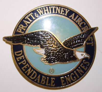 Pratt & Whitney Enameled Engine Plaque -