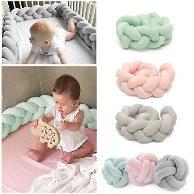 AU Baby Bedding Rail Crib Collision Knotted Bumpers Protector Pillow Knot Ball