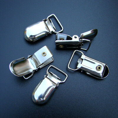 5 HOSENTRÄGERCLIPS Schnullerclips Alligatorclips - 16 mm - p00nh0002x3