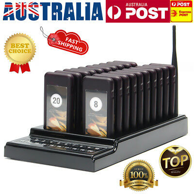 20Pcs Restaurant Coaster Pager Guest Call Wireless Paging Queuing Calling System