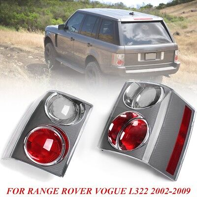2x Rear Tail Brake Lights Cluster Clear&Red For RANGE ROVER VOGUE L322 2002-2009