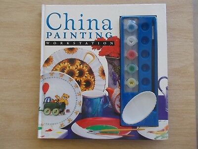 China Painting Workstation~Beginners~48pp Book~Paints~Palette~Brush~1994