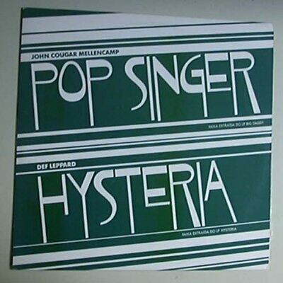 "Def Leppard Hysteria 12"" Promo Only With John Cougar Mellancamp - Pop Singer Bra"
