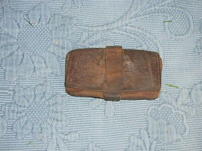 Antique Early Leather Wallet Purse