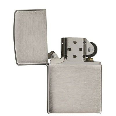 NEW Zippo Z200 Classic Windproof Lighter Brushed Chrome Finish Regular Size