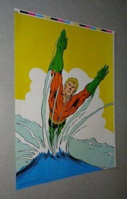 1977 Rare vintage original DC Comics Universe AQUAMAN pin-up poster: 1970's/JLA