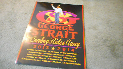 George Strait The Cowboy Rides Away 2013/2014 Tour Poster Poster
