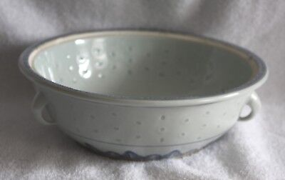 Chinese Riceware Large Double Handle Serving Bowl No Lid