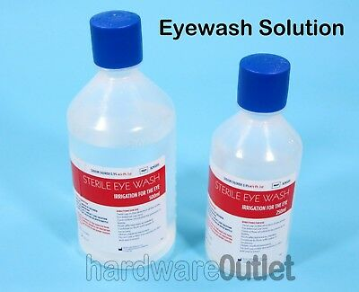 EYEWASH Sterile Saline SOLUTION 250ml or 500ml Bottles First Aid Eye Wash