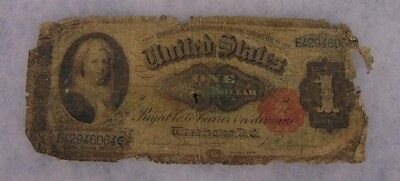 1891 Martha Washington $1 One Dollar Silver Certificate Ungraded Note As Is