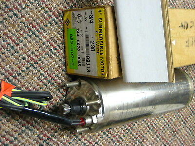 """Franklin 2445079004 Stainless Well Pump Motor 4"""" 0.75 HP 230V 2-Wire 1PH    RPH"""
