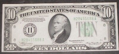 1934 Series A $10 Note President Hamilton Collectible Federal Reserve Notes