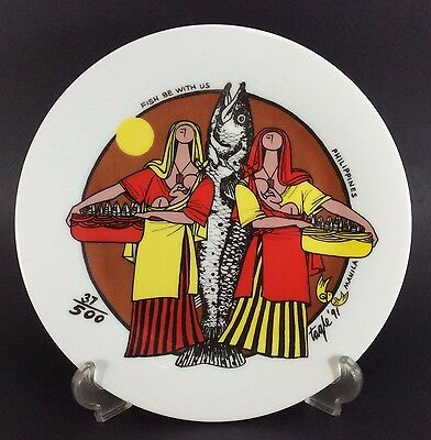 ER Tagle Philippines Positivism Mother Child Plate 1991 Fish B With Us LE