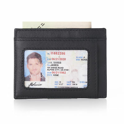 Alpine Swiss RFID Blocking ID Card Holder Thin Minimalist Front Pocket Wallet