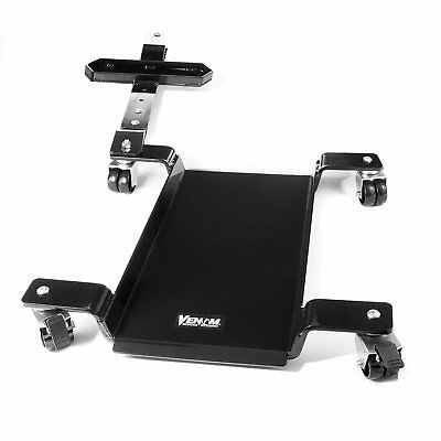 Motorcycle Dolly Storage Low Profile 1100lb Capacity Cycle Dolly w Swivel Wheels
