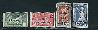 SYRIA 1924 PARIS OLYMPICS 1st OVERPRINT complete set of 4 VF MNH fresh