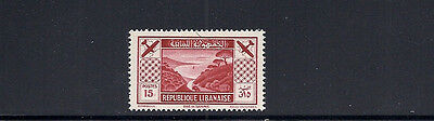 LEBANON 1936 AIRMAIL (Scott C55 Skiing in LEBANON 15P value only) VF MH