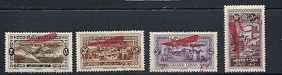 LEBANON 1926 AIR MAIL semi postals (Sc CB1-4) F/VF MH
