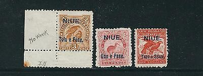 NIUE 1903 overprints on New Zealand (Sc 10-13) F/VF MH