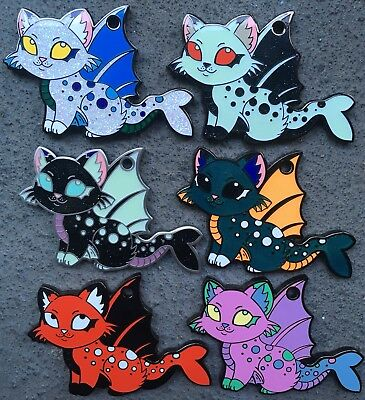 Purrmaid Geocoin FULL SET of 6 Kitty Cat Mermaid Trackable Token Coin Geocaching