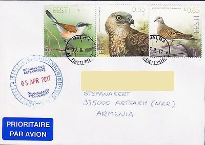 Estonia Bird Eagle Air Mail Cover To Nagorno Karabakh Armenia 17556
