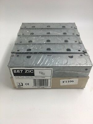 5 x MK 35 mm Deep 2 Gang Dual Flush Steel Box Double  887ZIC