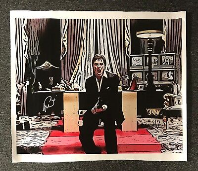Al Pacino Signed 20x24 SCARFACE Canvas Print Autographed PSA/DNA Sticker ONLY