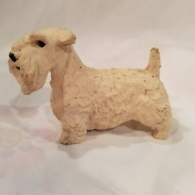 Vintage Sealyham Terrier figurine hand made one of a kind