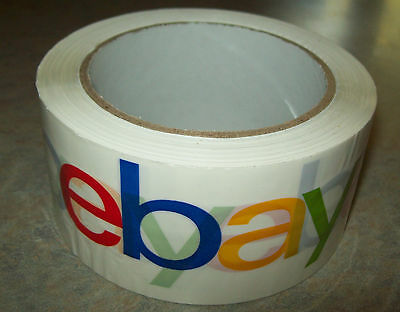 """EBAY Branded Logo TAPE 2"""" x75yd  SHIPPING PACKING Supply PACKAGING Promotional"""