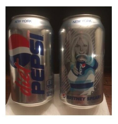 Britney Spears Limited Edition Diet Pepsi Generations 1 Full Diet Pepsi Can!