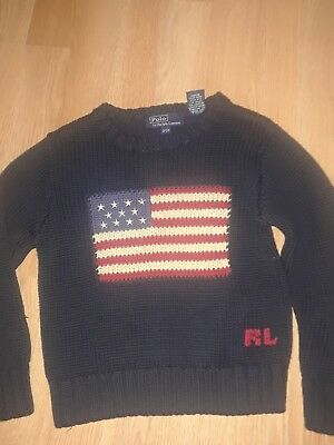 Boys Polo by Ralph Lauren Flag Sweater, Size 3/3T, Excellent Condition!