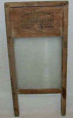"Vintage ""National Washboard Co"" (National No.863) Wood & Glass ""Lingerie"" 18inch"