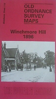 Old Ordnance Survey Maps Winchmore Hill Middlesex 1896  Godfrey Edition New