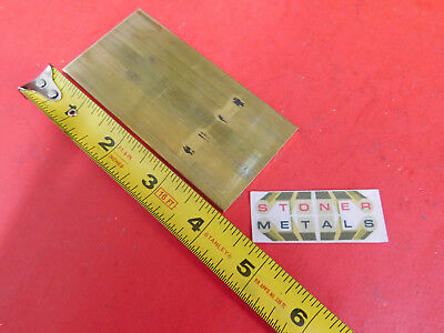 "1/8"" x 2"" C360 BRASS FLAT BAR 4"" long Solid Plate Mill Stock H02 .125""x 2.00"