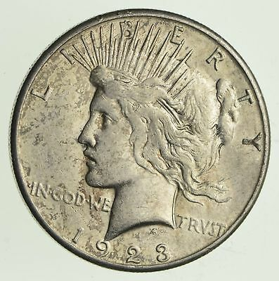 Early - 1923-S - Peace Silver Dollar - 90% US Coin *654
